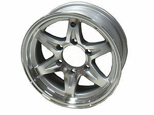 16 6 lug series 14 silver hi spec aluminum trailer wheel camper rv car