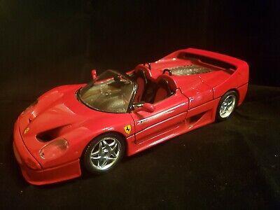 Burago 1/18 Scale Metal Model 1987 Ferrari F40 - Rosso Red Parts/repair