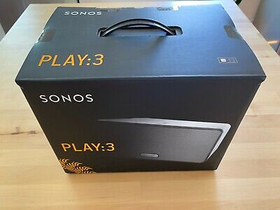 Sonos PLAY:3 Wireless Speaker White. Perfect Condition in box. Barely used.