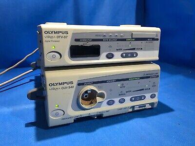 Olympus Visera Otv-s7 Clv-s40 Digital Processor Light Source Set.