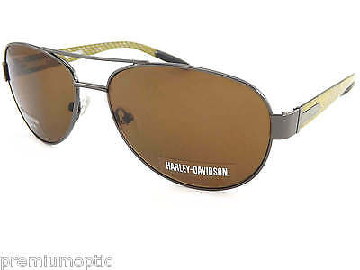 HARLEY DAVIDSON Sunglasses Gunmetal Carbon Fiber / Brown  HDX856 GUN-1