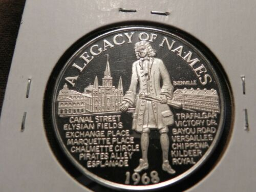 THOTH 1968 .999 Fine Silver One Ounce Doubloon New Orleans Mardi Gras Doubloon .