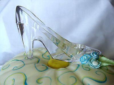Cinderella Glass Slipper 6 inch Plastic CAKE TOPPER Princess Shoe Party Decor