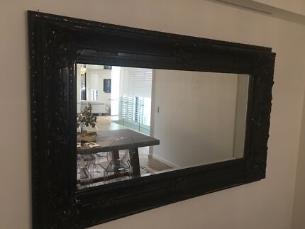 Black Large Mirror