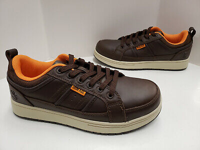 Mens Iron Age BOARD RAGE Leather Skate Steel Toe Industrial Shoes IA5300 Brown