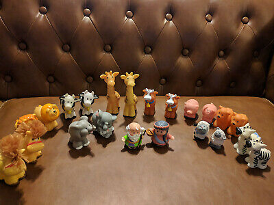 Fisher Price Little People 22pc LOT : Noah & His Animals ( noah's ark )