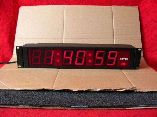 """LEITCH DTD-5225R LARGE 2.25"""" RED LED DIGITAL SMPTE / EBU TIME CODE CLOCK DISPLAY"""
