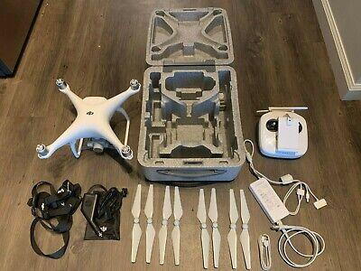 DJI Phantom 4 Quadcopter Drone 4k 12 Megapixel HD Camera - 2 Batteries + Extras