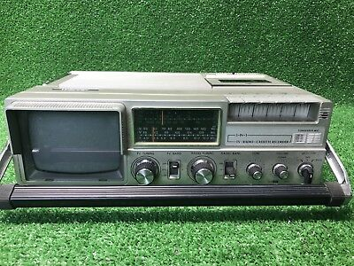 Vintage portable Unisonic 3 in 1 TV, radio, cassette recorder XL-929 Fast Ship