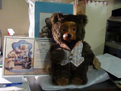 """Jason"" Robert Raikes Collectible Wooden Face Bear"