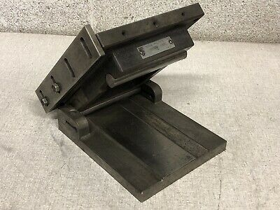 Omer E. Robbins Sine Plate B-5 Drilled Tapped 6 X 8