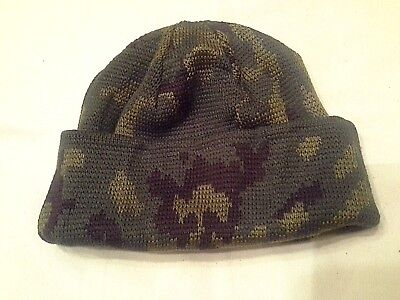Camo Wool (Rus army winter wool hat Camo army issued originale with tag/stamp one size)