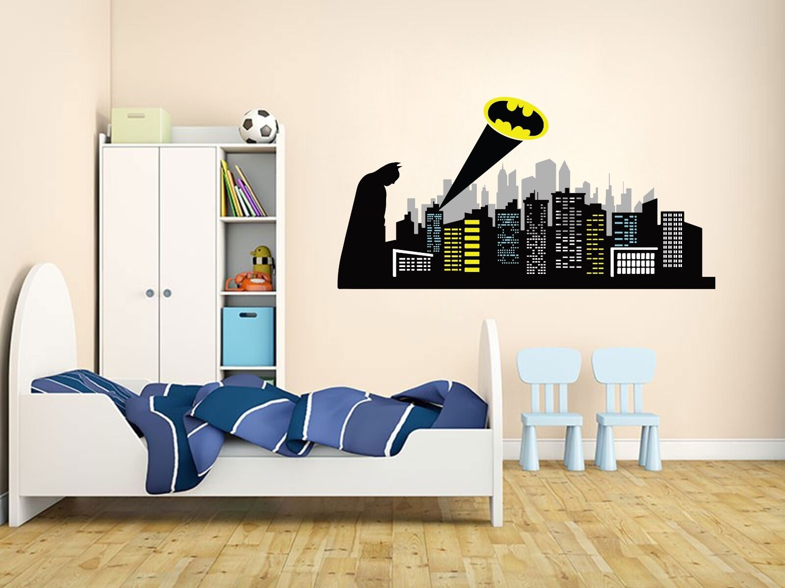 Gotham City Wall Decal Baby Boy Kids Decor Custom Bedroom Gi
