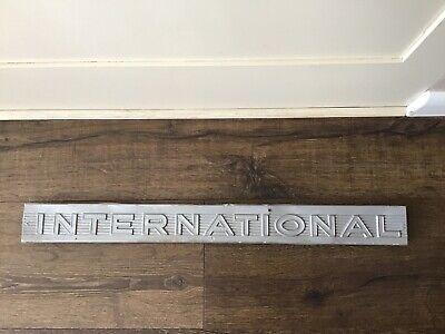Vintage International Backhoe Emblem Metal Sign Construction Industrial