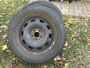 Volkswagen winter tires and wheels Golf Jetta 195/65-15