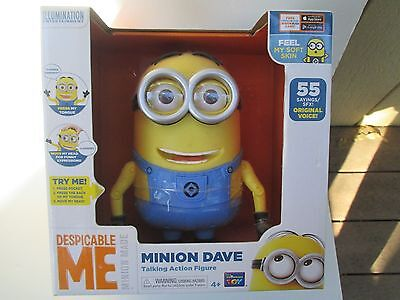 Thinking Toy DESPICABLE ME MINION MADE DAVE Talking Action Figure 55 PHRASES NEW](Minions Phrases)