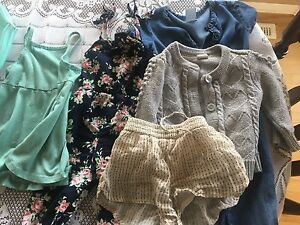 Rompers, dress, sweater and shorts