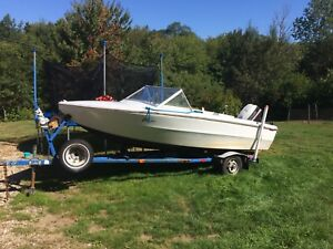 Boat , motor and trailer for sale or trade