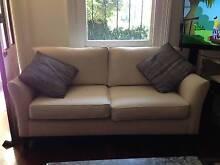 2 Seater - cream fabric sofa - x2 Rozelle Leichhardt Area Preview