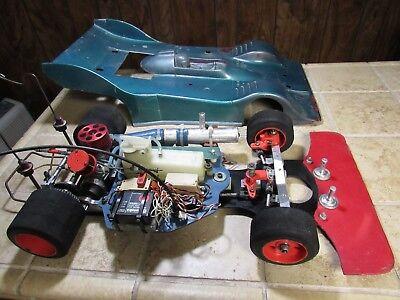 Vintage 1:8  Delta Super J Nitro RC Race Car , K&B Race motor  . RARE Nitro Race Car