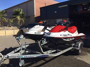 Two Seadoo Jetskis on double trailer in showroom cond & towhitch Malaga Swan Area Preview