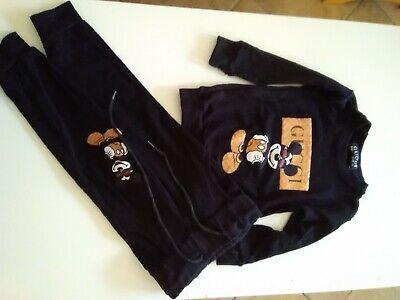 Mickey Mouse Jogging Anzug gr 86 schwarz aus Türkei jersey weich