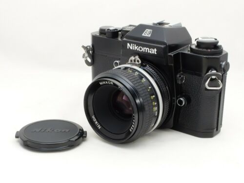 [Exc+++++] Nikon Nikomat EL Black SLR Camera w/Ai Nikkor 50mm f/2 from Japan