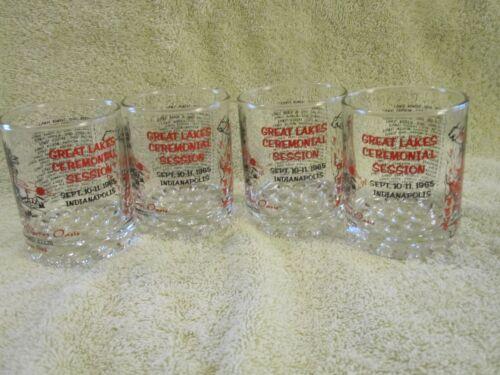 Vtg. Set/4 Cocktail Glasses. Shriners Murat Oasis, 1965