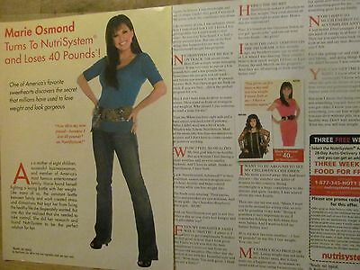 Marie Osmond, Nutrisystem, Two Page Vintage Print Ad