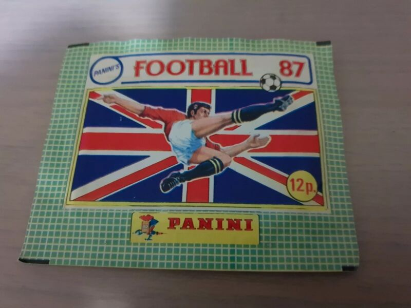 Panini Football 87 Unopened Pack Of Stickers Rare Sealed X1