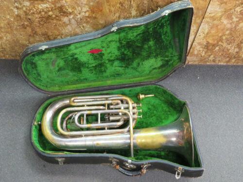 Vintage 1900 Besson 4 Valve Compensating Euphonium in Case