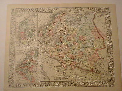 1732 Old Vintage Antique Map of Russia Poland Tartary decorative map Moll ca