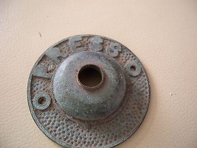 Genuine Antique patina solid copper ? Press button cover