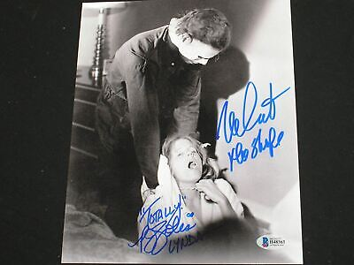 Pj Soles Halloween (NICK CASTLE & PJ SOLES Signed Michael Myers 8x10 Photo Halloween BECKETT BAS)