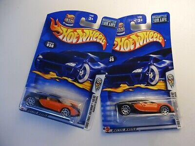 Hot Wheels 2003 First Editions Bugatti Veyron - 2 car lot