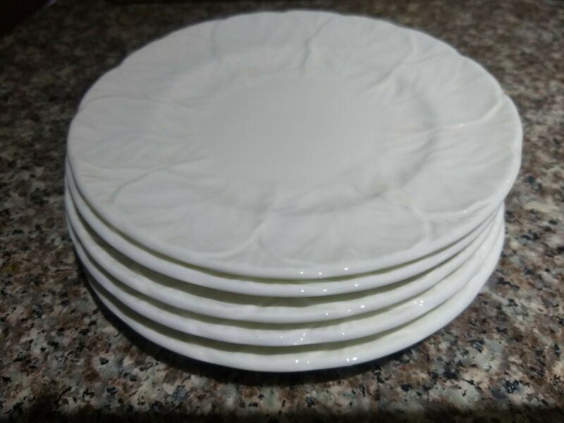 "5 Coalport Countryware White Bread and Butter Plates 6"" Bone China aka Wedgewood"