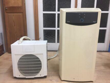 Portable split-unit air conditioning unit