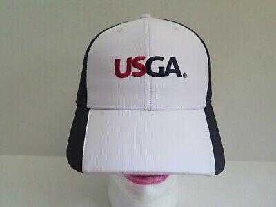 NEW USGA US AHEAD UPF 50 GOLF HAT CAP Sun Protection WHITE ADJUSTABLE 1e14a986081b