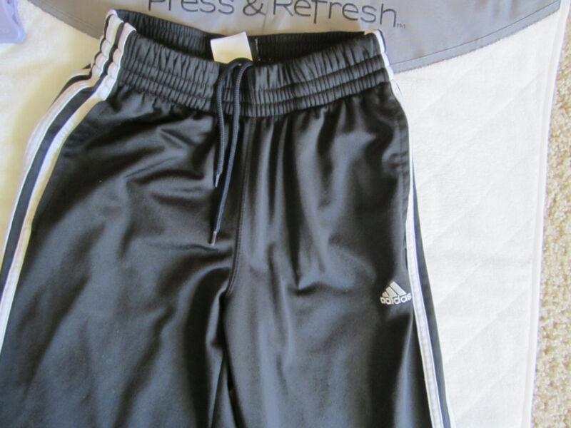 Women XS~ADIDAS~soccer sweats-black w/ white stripes, pockets,drawstrng waist225