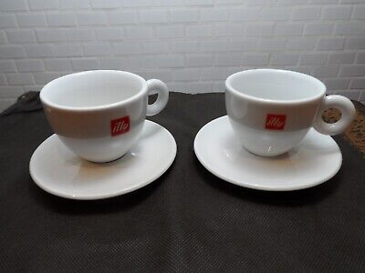 2 Matteo Thun ILLY CUP & SAUCER COFEE CAPUCCHINO PORCELAIN