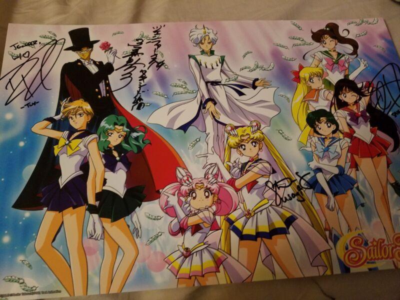 autograph from sailor moon english va and Japanese va