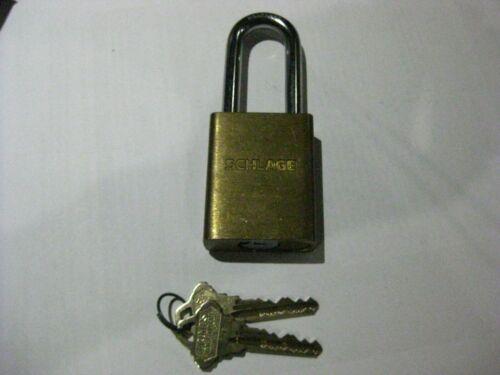 Schlage Primus Cylinder in a Schlage Padlock w/ 2 Keys. High Security.