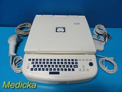 Mortara Eli 350 Electrocardiograph W Patient Module Barcode Scanner 17598