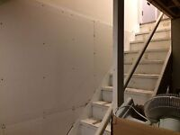 Do you need a wall put up, drywalled and finished ?