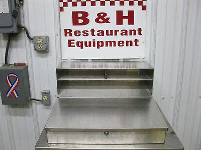 24 Stainless Steel Wall Mount Shipping Receiving Meat Locker Grocery Desk