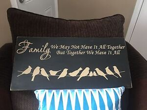 """Large Hand Painted & Handmade """"Family"""" Wooden Sign"""