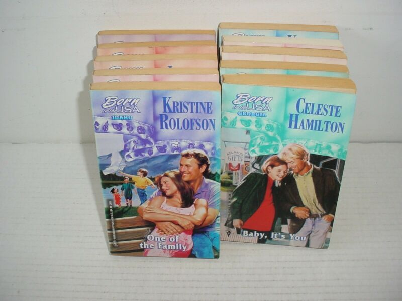 Lot of 10 Harlequin Born In The USA Romance Paper Back Books Novels