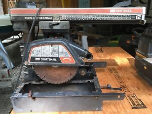 "12"" radial saw & 1/2"" drill"