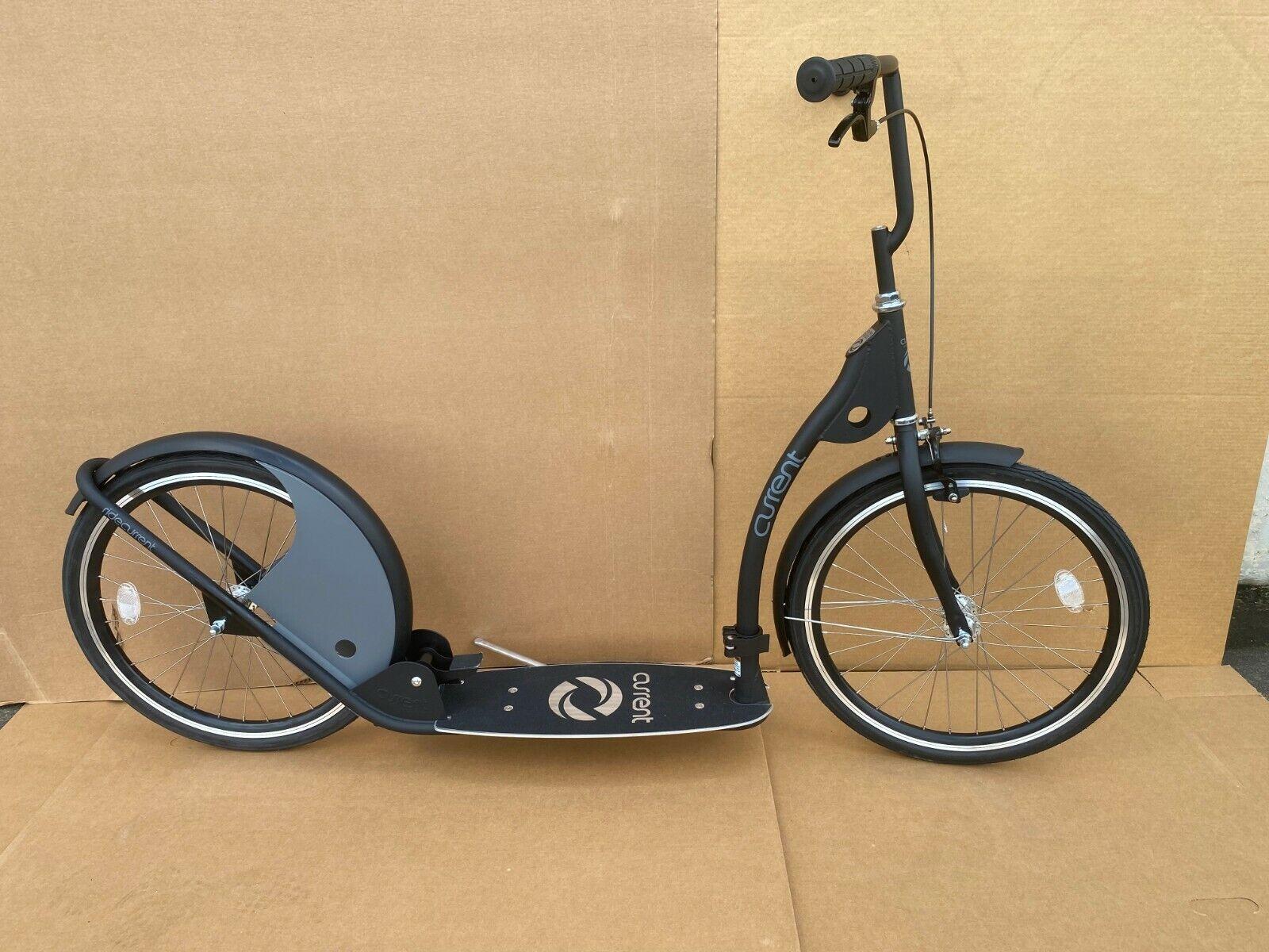 "Adult Kick Scooter Kick Bike 20"" Wheels Black and Gray"