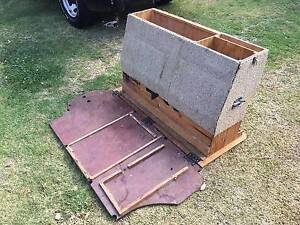 80 SERIES LANDCRUISER CUSTOM MADE REAR SEAT STORAGE DRAWERS BOX Liverpool Liverpool Area Preview